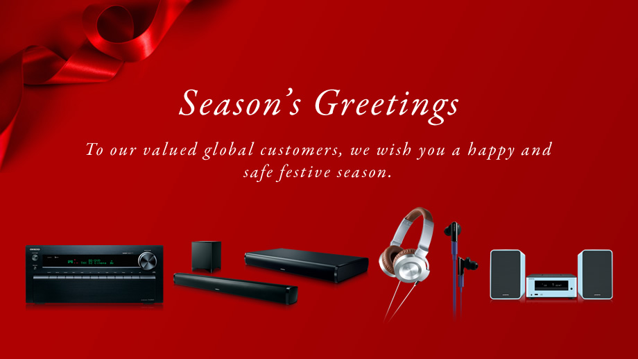 Seasons greetings from onkyo seasons greetings to our valued global customers we wish you a happy and safe festive m4hsunfo