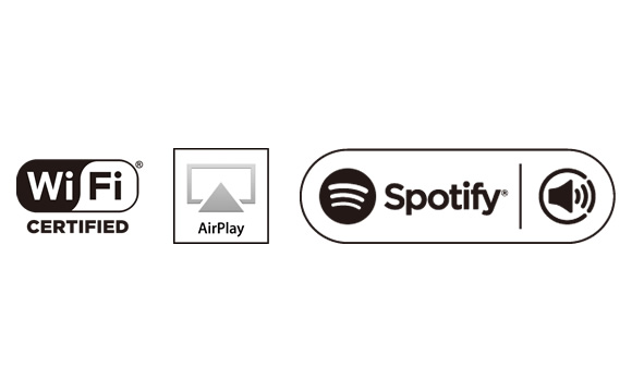 Dual-band Wi-Fi, AirPlay, and Spotify Connect Image