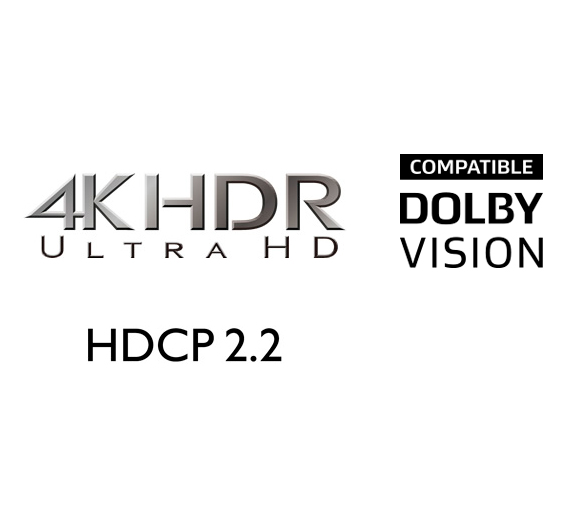 HDMI 8 In / 2 Out Including 1 Front (HDCP 2.2 / HDR) Image