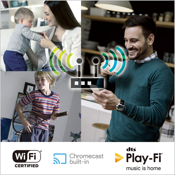 A wider choice of wireless multi-room platforms with stable 5 GHz/2.4 GHz Wi-Fi connection Image