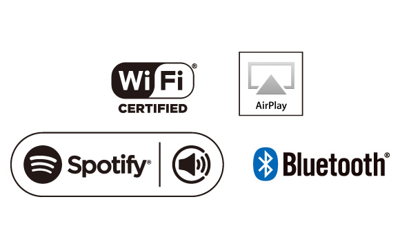 Wi-Fi, AirPlay, Spotify, and Bluetooth Image