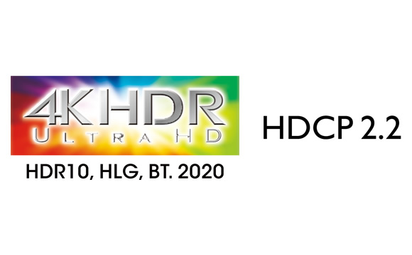 Supports 4K HDR, BT.2020, 4K/60 Hz, and HDCP 2.2 Image