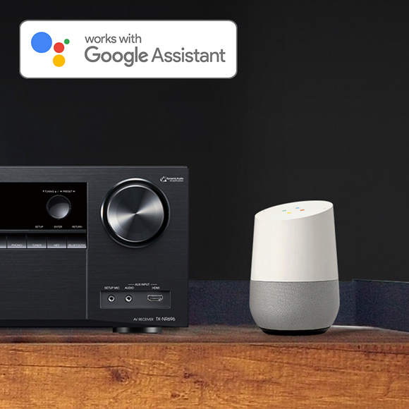 The TX-NR696 with Chromecast built-in and Google Assistant Image