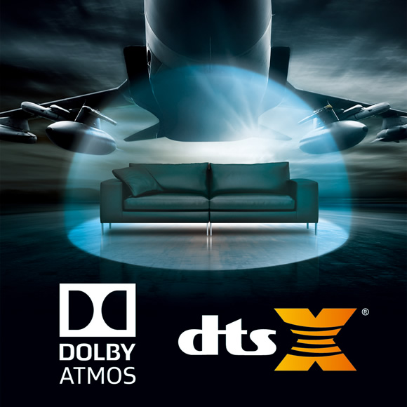 Dolby Atmos and DTS:X at up to 7.2.4 channels Image