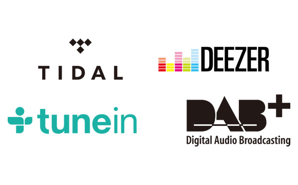 Internet Radio, Streaming Services, FM/RDS, and DAB/DAB+ Image