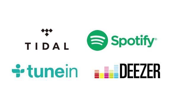 Enjoy TIDAL*1, Spotify, Deezer*1, and TuneIn Image