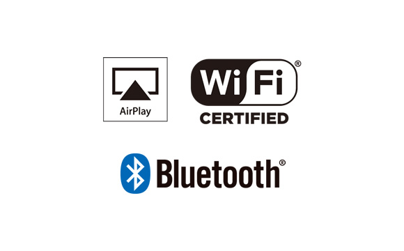 Wi-Fi, AirPlay, and Bluetooth Technology Image