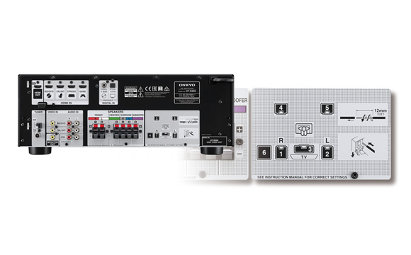 Easy Connection Guide on Back Panel Image