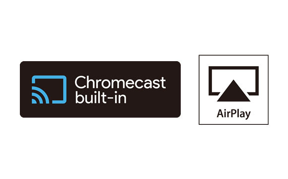 Wireless Playback with Chromecast built-in* and AirPlay Image