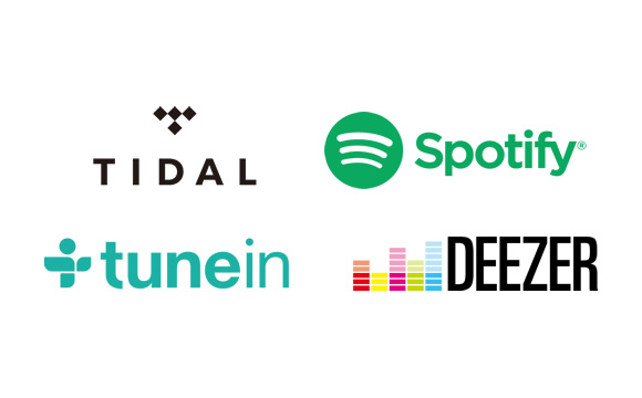 Enjoy TIDAL*1, Spotify, Deezer*1, Pandora*2, and TuneIn Image