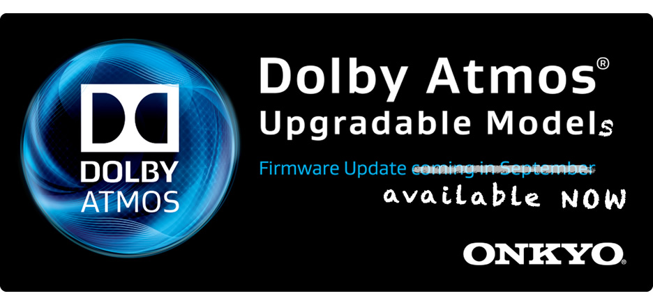 Onkyo Delivers Free Firmware Update to Enable Dolby Atmos Capability