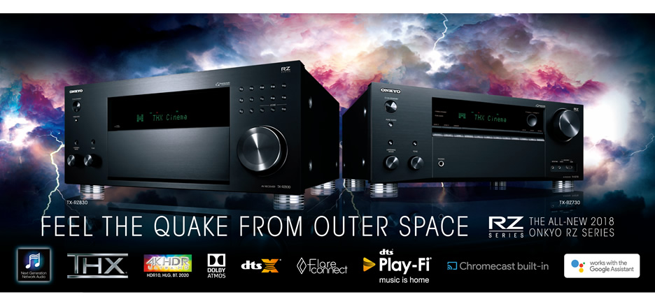 State-of-the-Art Onkyo RZ Series Receivers Open New Entertainment